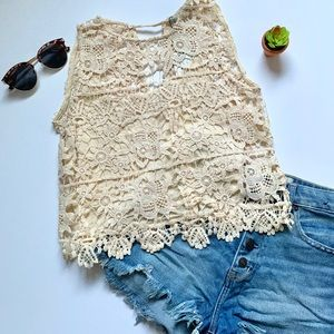 Zara Basic Crocheted Crop Top